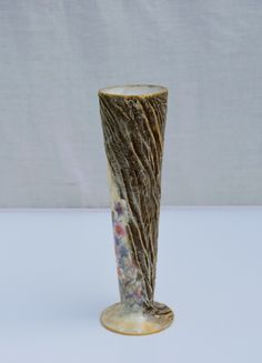 Decorative glass vase with handmade design. There has been mixed media used. Only one item is made. Diameter of the top is 7 cm; Height is 25 cm. The artwork comes with a certificate of authenticity. Decorative Glass, Decorative Objects, Sea Flowers, Mixed Media Painting, Handmade Design, Authenticity, Painting & Drawing, Certificate, Framed Art