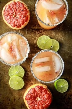 Roasted Grapefruit Margaritas with Smoked Sea Salt - Heather Christo Fancy Drinks, Easy Cocktails, Cocktail Drinks, Sweatshirt Outfit, Refreshing Drinks, Yummy Drinks, Tequila, I Chef, Best Cocktail Recipes