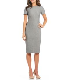 b4da25f00b9 Antonio Melani Tonya Menswear Midi Length Sheath Dress