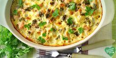 Lachs-Gemüse-Auflauf, low carb Diät rezept