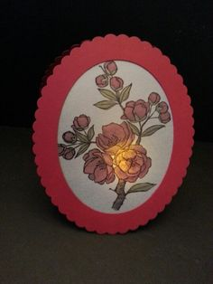 Opened with tea light inside to illuminate Card Ideas, Gift Ideas, Alcohol Markers, Easel Cards, Tea Lights, Stamping, Florals, Decorative Plates, Catalog