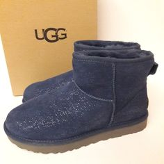 I just added this listing on Poshmark: New UGG Classic Mini Milky Way Boots Uggs On Sale, Ugg Classic Mini, Blue And Silver, Navy Blue, Blue Sparkles, Milky Way, Ugg Shoes, Rain Boots, Fashion Design