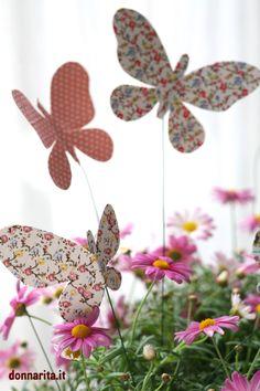 un modo semplice per decorare i vostri vasi di fiori e per rendere ancora più colarata la natura!
