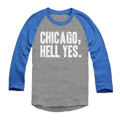 cb4446a3d514 Chicago Shirt - Chicago Hell Yes - Chicago Sports - Unisex Sizing - Vintage  Print - Baseball Style -