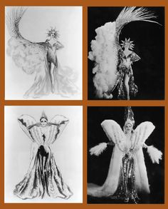 "Costume sketches for ""The Great Ziegfeld"" by Gilbert Adrian (Adrian Costume Design). Burlesque Costumes, Theatre Costumes, Movie Costumes, Awesome Costumes, Costume Design Sketch, Sketch Design, The Great Ziegfeld, Ziegfeld Girls, Hollywood Costume"