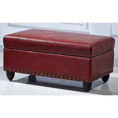 Royal Comfort Adamn Faux Leather Luxury Ottoman