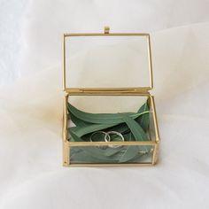 Goldenes Ringkästchen Accessoires Für die Trauung Ringkissen