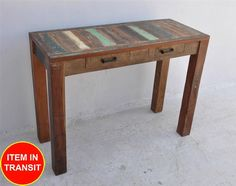 Recycled Reclaimed Boat OLD Rustic Timber Console Long Desk Sideboard Hall Table | eBay