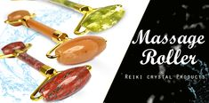#reikicrystalproducts #crystalhealing #reikihealing #reikihealing #vastuhealing #masssageroller #faceroller #Crystalstone #Reikistone #Citrine, #GreenAventurine, #Amethyst, #black, #RoseQuartz, #TigerEye, #Sodalite Feng Shui Items, Stone Massage, Massage Roller, Facial Massage, Ber, Green Aventurine, Stones And Crystals, Reiki, Wands