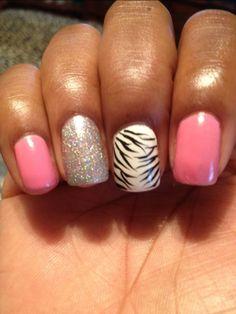 short acrylic nail designs | Its my nails | …..yes im polishing them again!