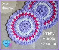Pretty Purple Coaster - Media - Crochet Me