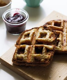 A waffle iron gives this sandwich crispy nooks and crannies—making it infinitely tastier than the average panini. Simply pile soft sandwich bread with toppings of your choice (think nut butters, berries, coconut, and chocolate), and then grill in the iron until warm and golden brown. Set up as a make-your-own sandwich bar for a special weeknight treat.