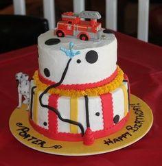 Very Cute FireTruck Birthday Cake