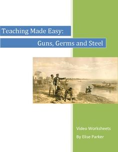 Few teaching units can effectively capture the breadth of human history since the dawn of farming to the present day, but Jared Diamond's breathtaking series, Guns, Germs and Steel does so with aplomb. This bundle contains video worksheets for episodes 1 and 2 of Jared Diamond's 3-part series. There is no worksheet provided for episode 3 simply because it is the weakest -- the truly core content is covered really well in just episodes 1 & 2.