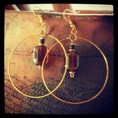 Amber Rings Earrings