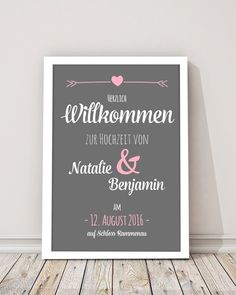 """Hochzeitsdeko - Poster zur Hochzeit """"Tafel"""" Druck - ein Designerstück von Design-Grusskarten bei DaWanda"""