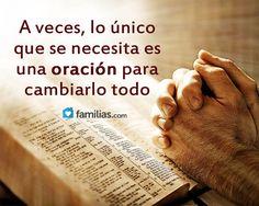 A veces solo tienes que orar