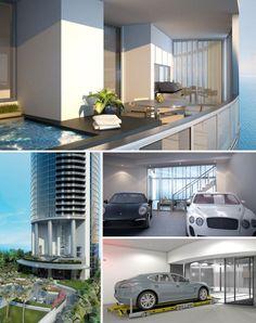 Porsche Design Tower: A Luxury Condo for Car Lovers  - Porsche Design Tower: apartamentos de lujo para los amantes de los autos