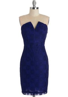 Call It a Date Night Dress in Cobalt. An unexpected dinner date? #gold #prom #modcloth