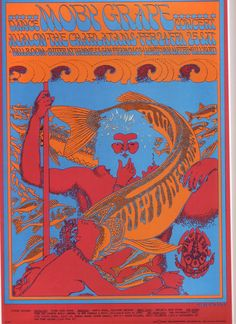 Moby Grape, The Charlatans february 24-25, 1967 disign by Victor Moscoso