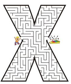 Printable Maze for Kids | Uppercase Letter X