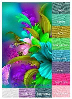 Yarn Color Combinations, Color Schemes Colour Palettes, Colour Pallette, Color Palate, Color Trends, Chevron Crochet Patterns, Design Seeds, Color Box, Coordinating Colors
