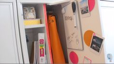 Tip #8: Top off locker with a whiteboard. | Back to School Organization Tips and DIY Tutorial on How to Organize Your Locker