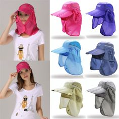 Outdoor Fishing Man Women Hat Face Neck Sun UV Protection Flap Cap Quick-drying in Clothes, Shoes & Accessories, Men's Accessories, Hats | eBay