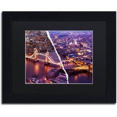 Trademark Fine Art City Lights London Canvas Art by Philippe Hugonnard Black Mat, Black Frame, Size: 16 x 20