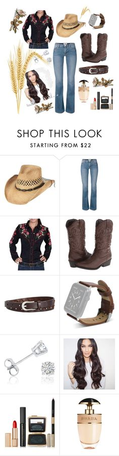 """""""My country look!"""" by yvette-colon ❤ liked on Polyvore featuring Scully, Madden Girl, INC International Concepts, Amanda Rose Collection, Estée Lauder, Prada and country"""