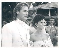 Don Johnson / Sonny Crockett and Sheena Easton / Caitlin Davis at their wedding in Miami Vice