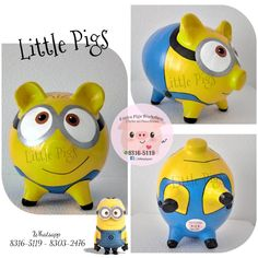 - Little Pigs Workshop Personalized Piggy Bank, Little Pigs, Creative Thinking, Own Home, Minions, Workshop, Handmade Items, Piggy Banks, Wood