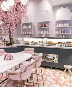 36 Colorful Furniture Ideas to Makeover your Interior architektur Hair Salon Interior, Salon Interior Design, Restaurant Interior Design, Modern Interior Design, Retail Interior, Modern Decor, Café Design, Design Shop, Store Design