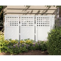 Outdoor Screen Enclosure Lawn And Garden Decor Home Yard Privacy Fence White New in Home & Garden, Yard, Garden & Outdoor Living, Garden Fencing, Fence Panels This Old House, Patio Gazebo, Wood Pergola, Pergola Kits, Vinyl Pergola, Pergola Ideas, Wood Patio, Backyard Landscaping, Landscaping Ideas