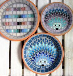Moonlight Hedgehog Mosaic Garden Water Dish