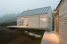 Cross Laminated Timbers CLT's were utilized as a construction solution for a seasonal residence that can be applied to remote locations, including the many beautiful and difficult-to-access islands off the coast of Maine. The residence, Little House on the Ferry, consists of three small structures—a living unit and two bedroom units that are linked by an exterior deck—that…