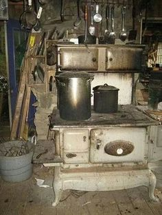 Cooking on a wood burning stove