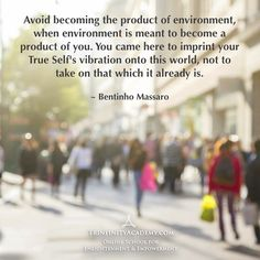 Bentinho Massaro - Your Environment is a Product of You - Inspirational Quotes - 14-day free trial https://www.trinfinityacademy.com