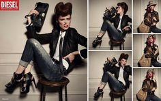 Diesel AW 2012 ad with Coco Rocha