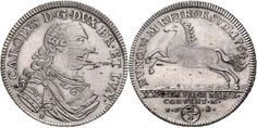 Carl I., 1735-1780, 2 / 3 covention thaler (Guilder), 1764 I. D. B., Brunswick, geharn. Breast image to the right, reverse spring line. Hors...