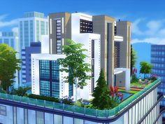 Royal Penthouse is a huge modern house built on lot in San Myshuno. Found in TSR Category 'Sims 4 Residential Lots' Sims 4 Modern House, Sims 4 House Design, Lotes The Sims 4, Sims Cc, Sims 4 Penthouse, Penthouse Apartment, Sims Freeplay Houses, Sims Building, Casas The Sims 4