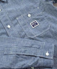 Real McCoys 8HU Work Shirt Lot 232S- Chambray