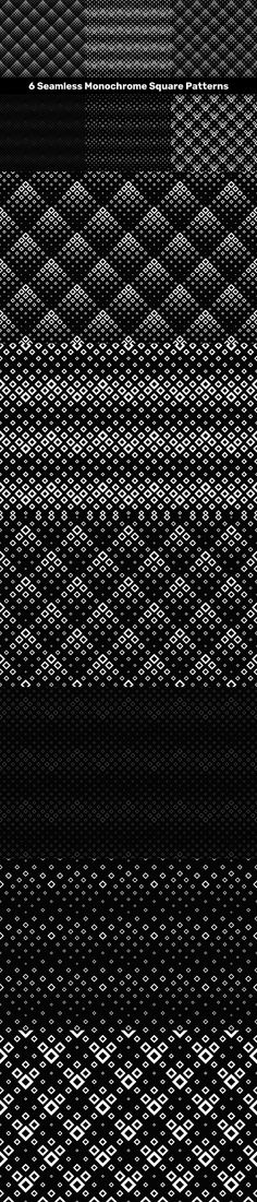 6 Seamless Monochrome Square Patterns #PremiumVectors #PatternBundles #PatternBundle #AbstractDesign #cheap #VectorPatterns #graphic #DiscountPatterns #cheap #BackgroundSale #GeometricBackground #VectorGraphics #CheapVectorBackgrounds #PatternSale #pattern #PremiumBackground #seamlessbackgroundcollection #mandaladesign #VectorImage Square Patterns, Background S, Vector Pattern, Vector Graphics, Monochrome, Monochrome Painting