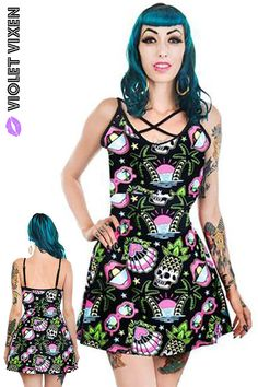 4f46ff6232c2 Violet Vixen · Goth · Skater girl meets tropical vacation in this cute,  strappy mini dress! Feed your pastel