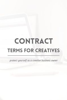 Use these the next time your make your contract.