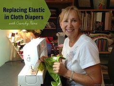 Replacing elastic in #clothdiapers tutorial