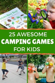 These are the best camping games for kids! Fun outdoor games kids love for your next family camping trip! Includes nature activities, night camping games, and family games that are fun for kids and adults. Plus camping games for tweens and teens. Choose your favorite kids' camping games before your next family campout! #campinggames #outdoorgames #kidsgames #familygames Outdoor Summer Activities, Outdoor Games For Kids, Nature Activities, Rainy Day Activities, Craft Activities For Kids, Family Camping Games, Family Games, Tween Games, Business For Kids