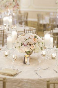 Wedding reception flower idea; photo: John and Joseph Photography