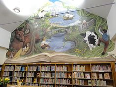 7 Library Mural Ideas Mural School Murals Library