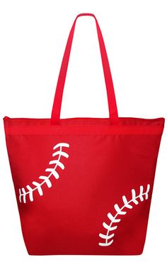 Baseball Laces Tote Bag. This tote is great for carrying sunscreen, drinks and everything else a baseball mom or baseball fan needs.